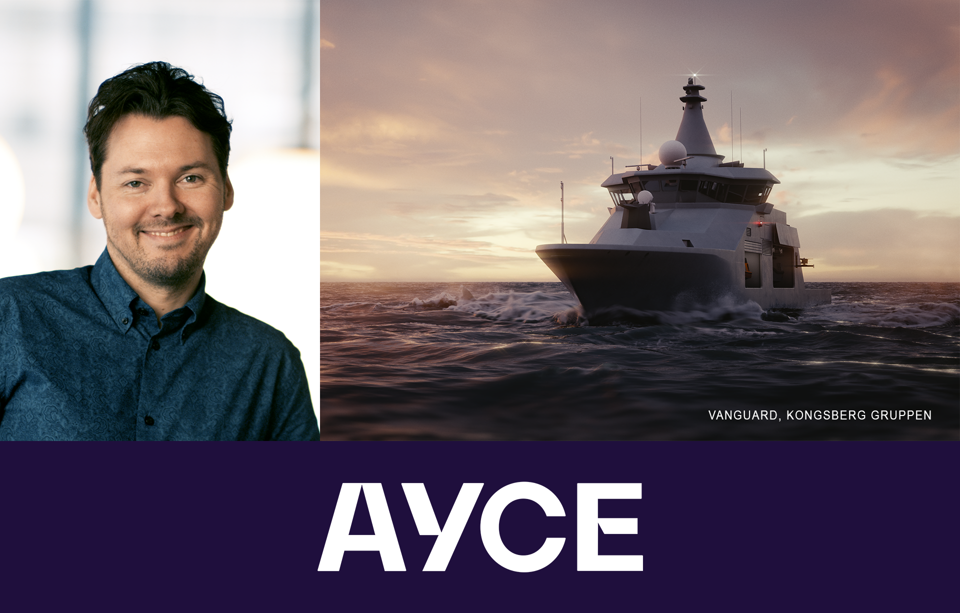 Martin Skarbø  founder of Ayce use expertise from The Cloud People to create animations of Kongsberg Vanguard