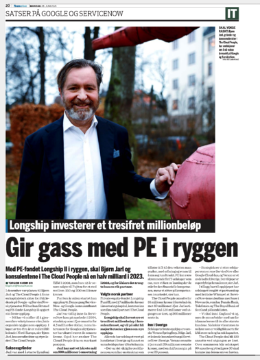 The Cloud People covered in The Norwegian Financial Daily