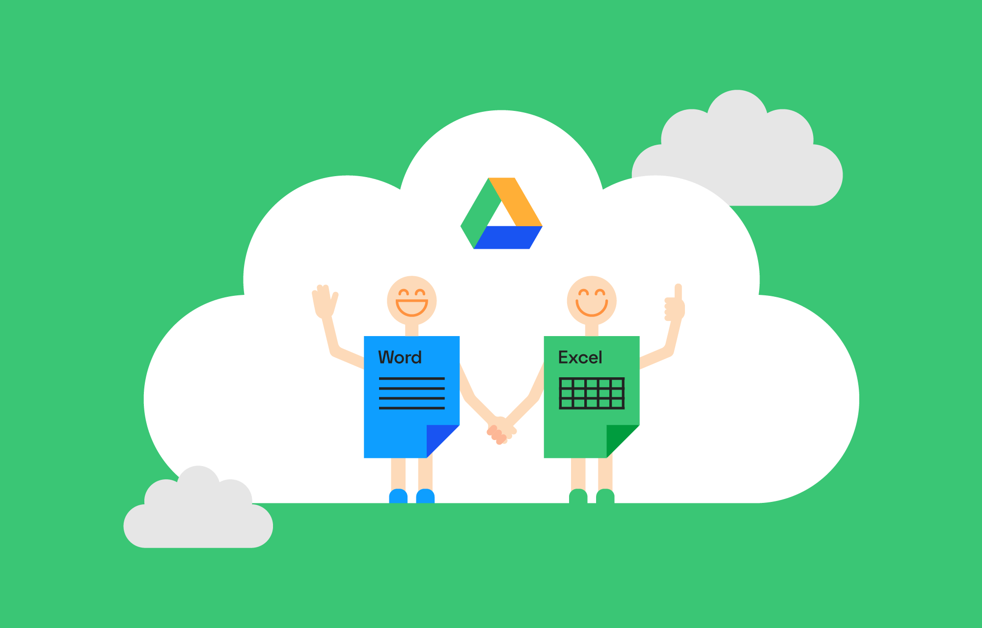 Word and Excel on Google Drive